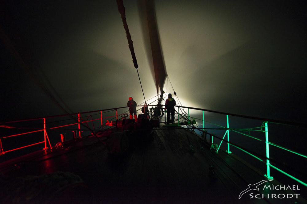 Ausguck auf Schiffen - Antarktis Nebel